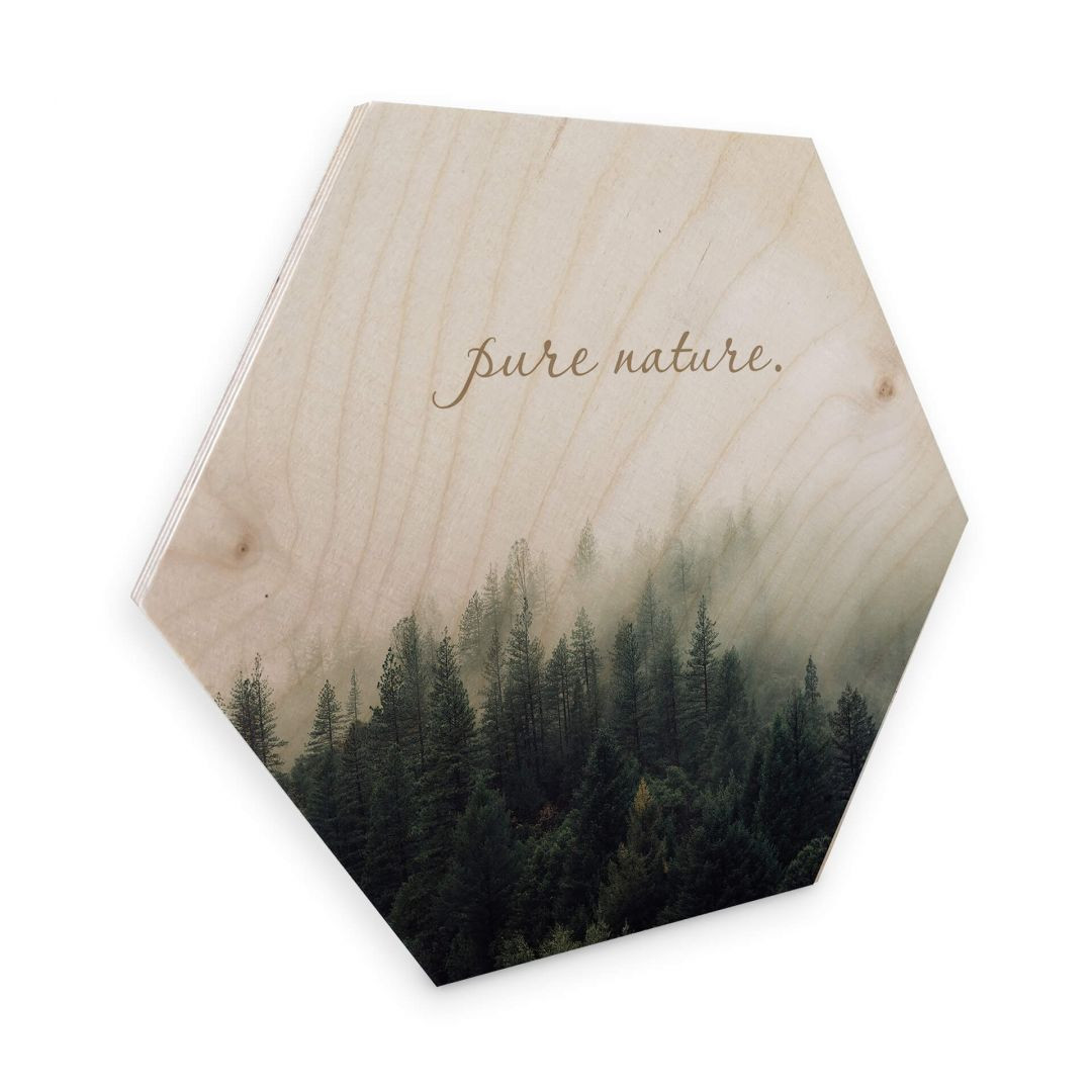 Hexagon - Holz Birke-Furnier - Pure Nature - WA253344