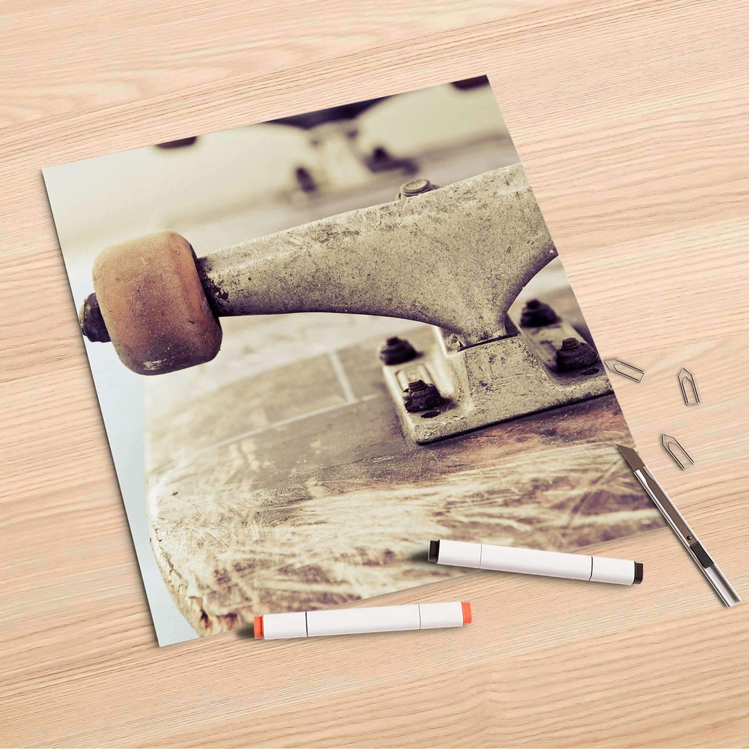 Folienbogen (30x30cm) - Skateboard - CR106936