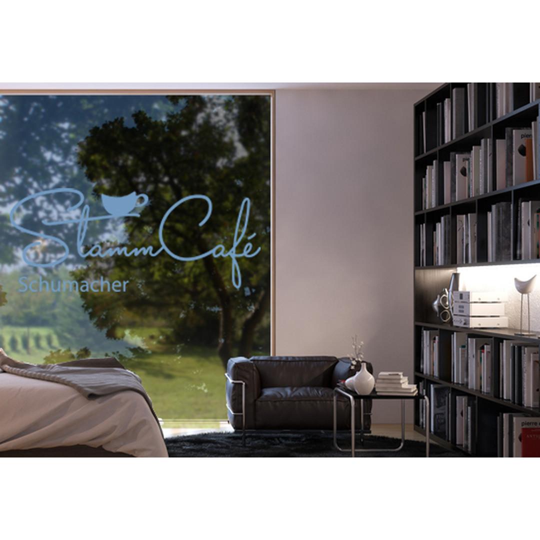 Glasdekor Wunschtext Stammcafé - CG10559