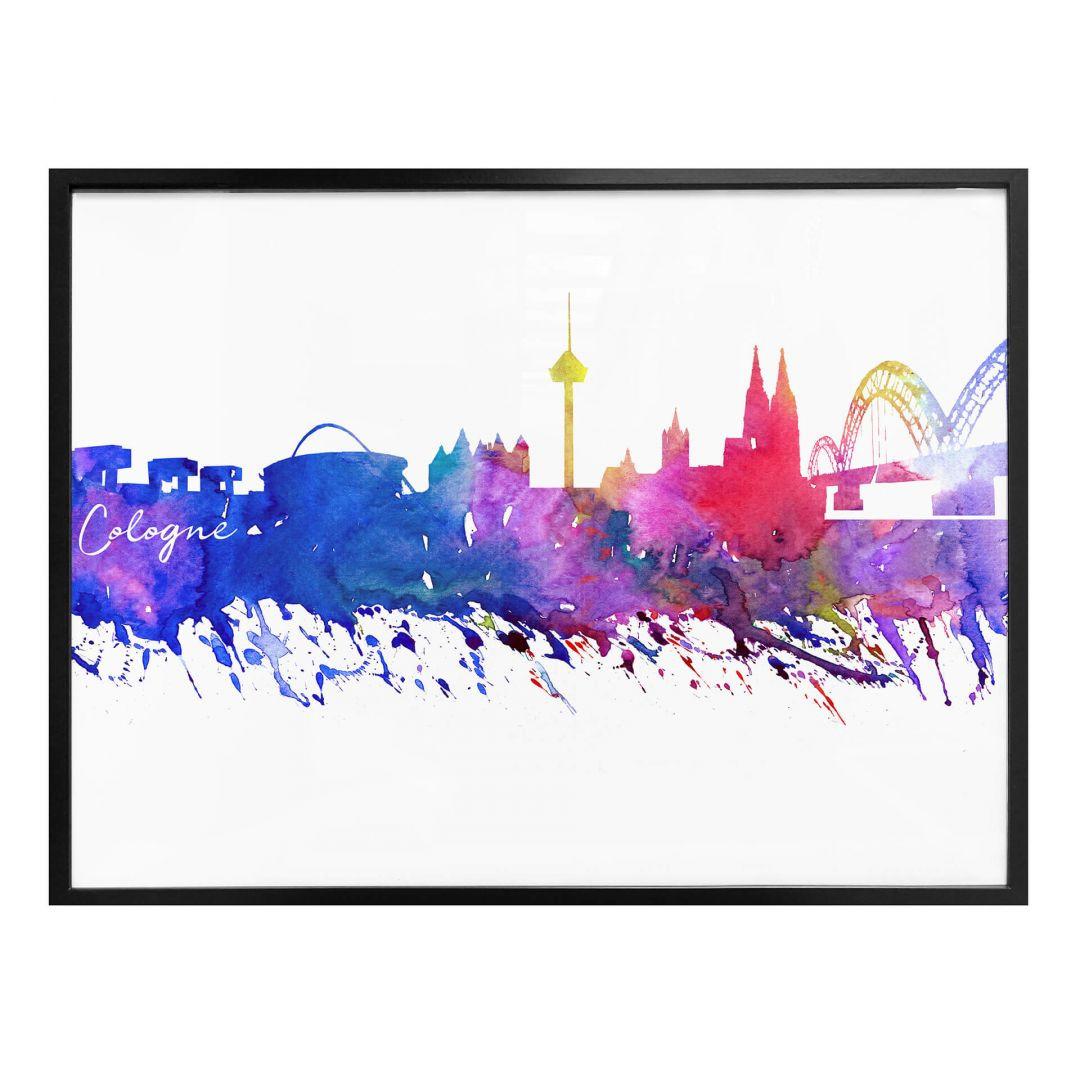 Poster Bleichner - Köln Aquarell Skyline - WA256893