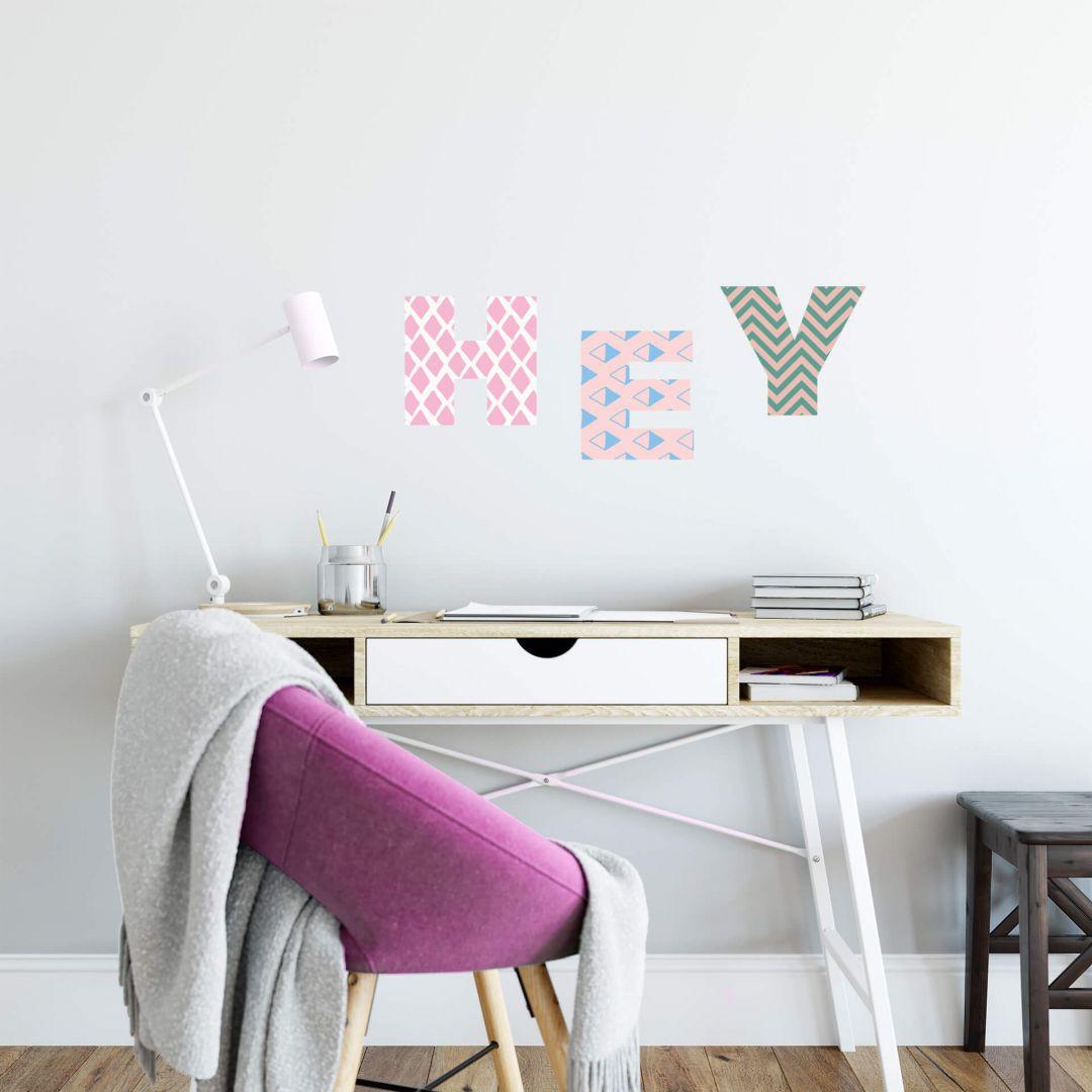 Wandtattoo Alphabet Muster Geometrisch - WA283733