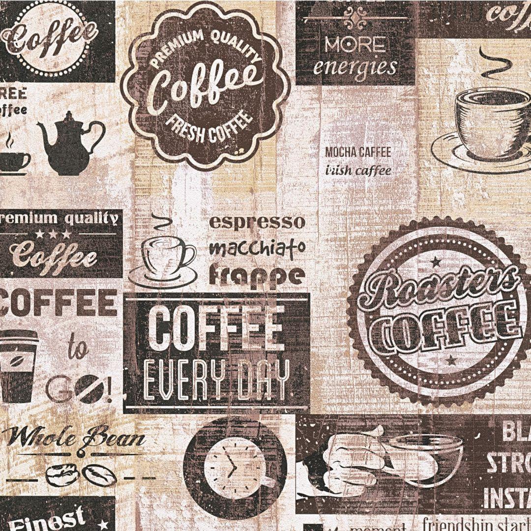 A.S. Création Papiertapete il Decoro Tapete Kaffee braun, creme, schwarz - WA267740