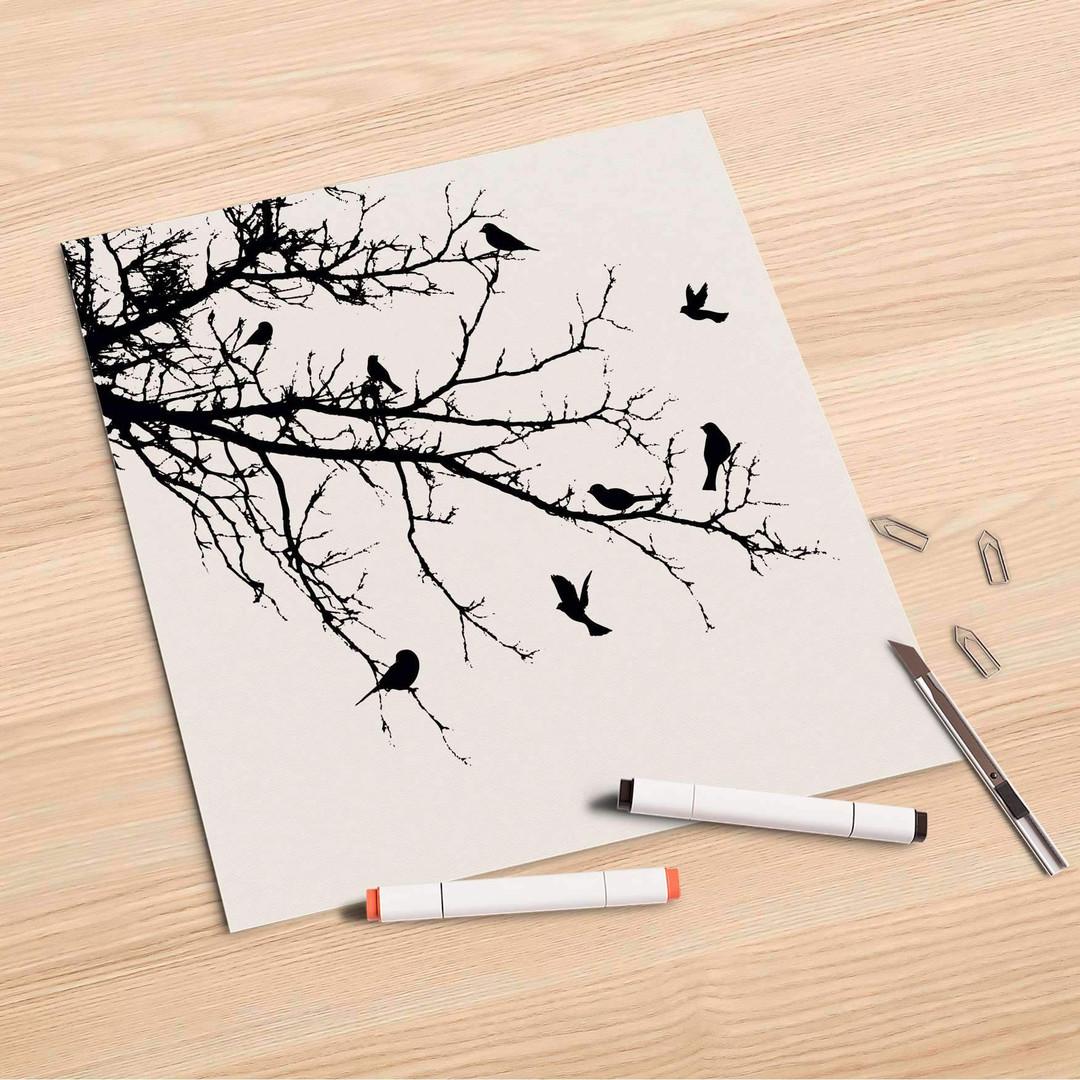 Folienbogen (30x30cm) - Tree and Birds 1 - CR106971