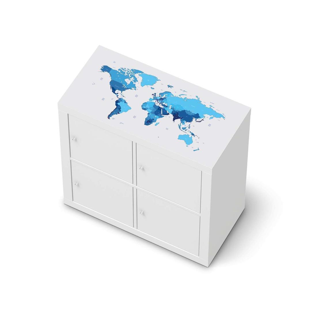 Möbelfolie IKEA Expedit Regal oben - Politische Weltkarte - CR114659