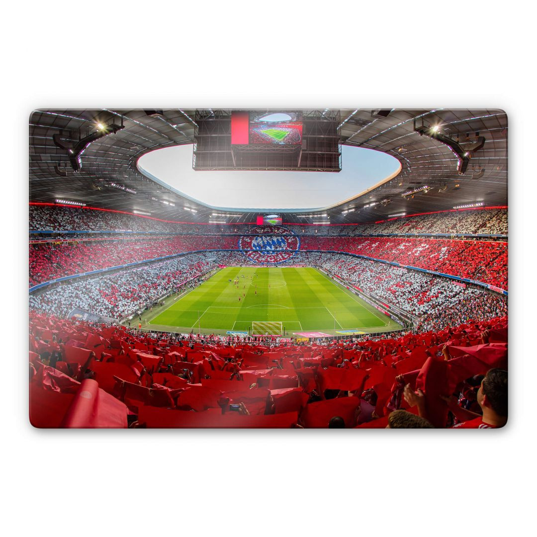Glasbild FCB Stadion Rot Weiss - WA252777