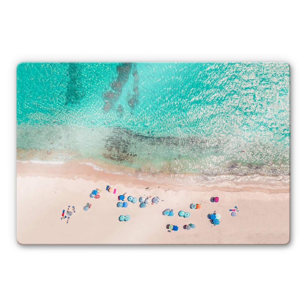 Glasbild Sisi & Seb - Am Strand - WA253013