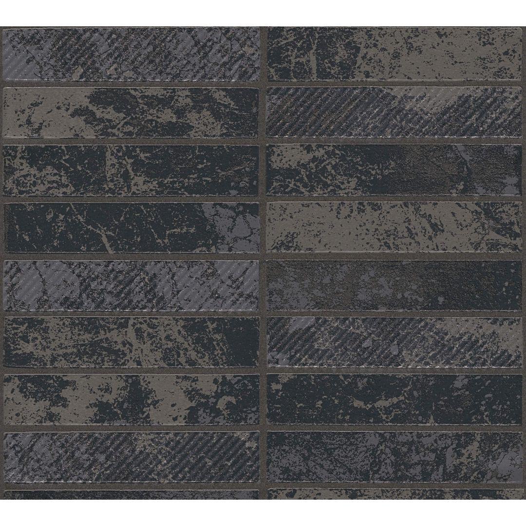 A.S. Création Tapete il Decoro in Klinker Optik metallic, schwarz - WA267814