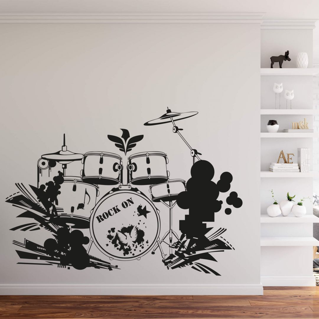 Wandtattoo Schlagzeug - WA287806