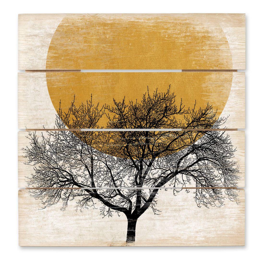 Holzbild Kubistika - Wintermorgen - WA253472