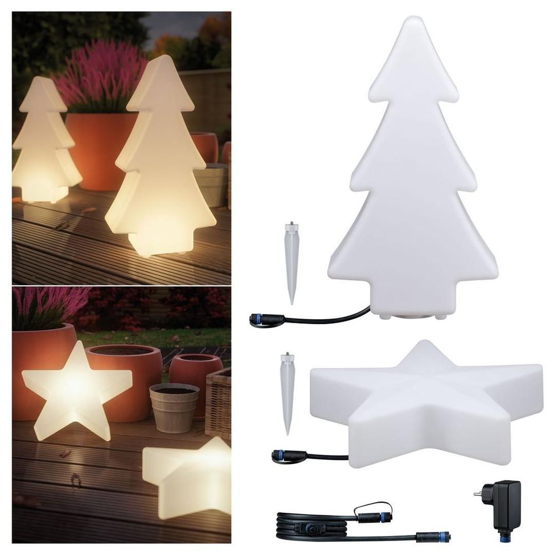 LED Baum und Stern Set Plug&Shine in Weiss - CL120336
