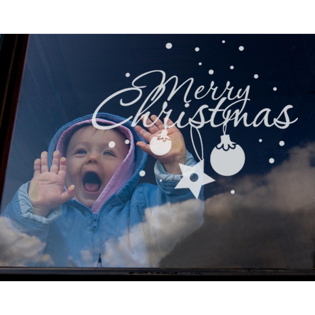 Glasdekor Merry Christmas - CG10247