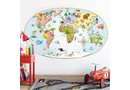 Wandtattoo Michel Agullo - Kinder-Weltkarte