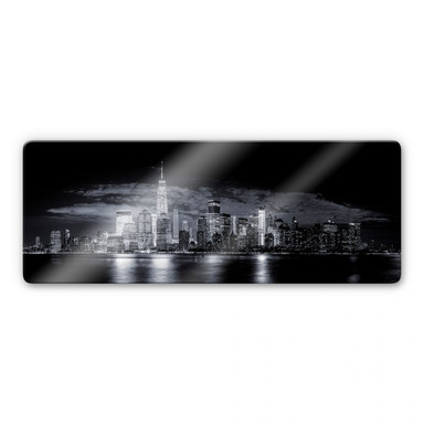 Glasbild Carvalho - Skyline at Night - Panorama