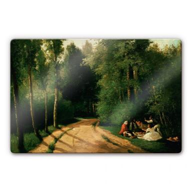 Glasbild Pissarro - Picknick in Montmorency