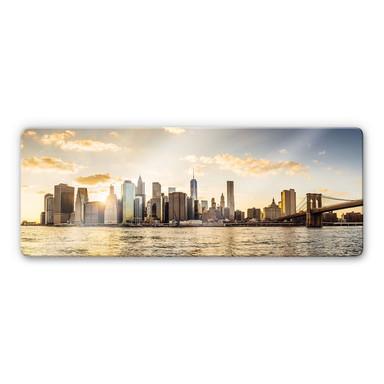 Glasbild Sundown in Manhattan