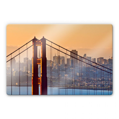 Glasbild Sundown over San Francisco