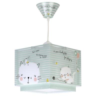 Kinderzimmer Pendelleuchte Loving Cat fluoreszierend E27