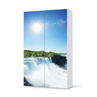 Klebefolie IKEA Besta Schrank 2 Türen (hoch) - Niagara Falls
