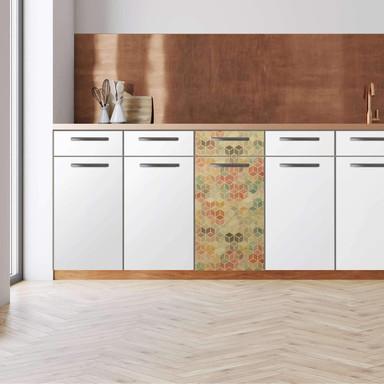 Küchenfolie - Unterschrank 40cm Breite - 3D Retro Pattern