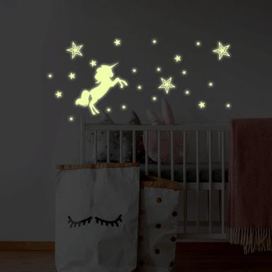 Leuchtsticker Einhorn - Bild 1