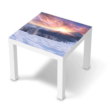 Möbelfolie IKEA Lack Tisch 55x55cm - Zauberhafte Winterlandschaft