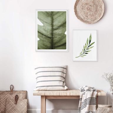 Poster-Set mit Bilderrahmen Grüne Natur (2er Set) - Bild 1