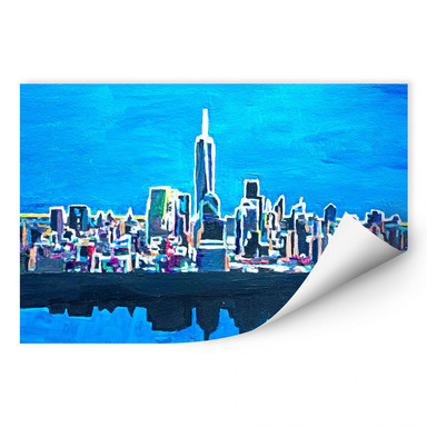 Wallprint Bleichner - New York City im Neonschimmer