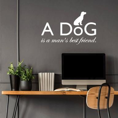 Wandtattoo A dog is a man's best friend