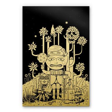 Alu-Dibond-Goldeffekt - Drawstore - In the Woods