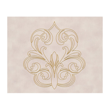 Architects Paper besticktes Panel Nobile metallic, lila