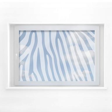 Fensterdekor Zebra Muster 1