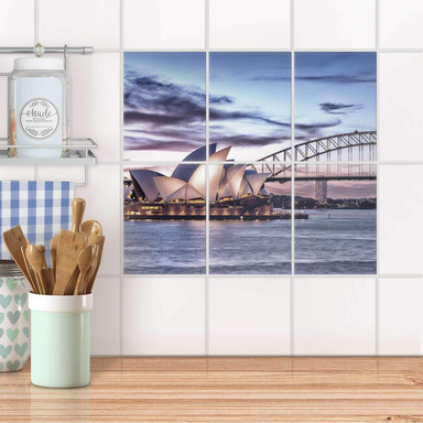 Fliesenaufkleber hoch - Sydney