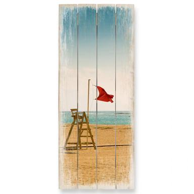 Holzbild Rote Fahne - Panorama