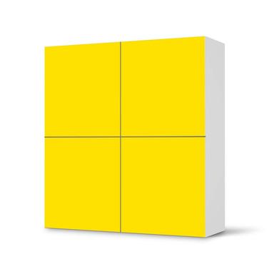 Klebefolie IKEA Besta Schrank 4 Türen - Gelb Dark- Bild 1