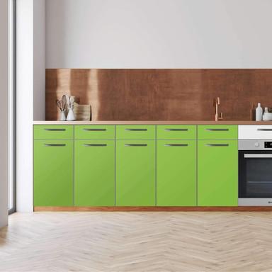 Küchenfolie - Unterschrank 200cm Breite - Hellgrün Dark