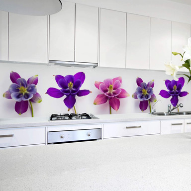 Küchenrückwand - Pinke Blüten