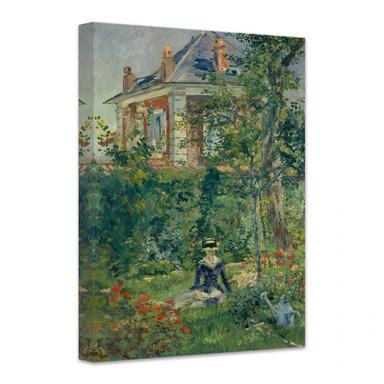 Leinwandbild Manet - Marguerite im Garten von Bellevue
