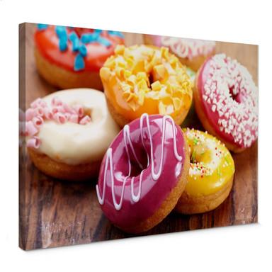 Leinwandbild Zuckersüsse Donuts