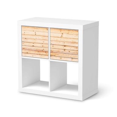 Möbel Klebefolie IKEA Expedit Regal 2 Türen (quer) - Bright Planks- Bild 1