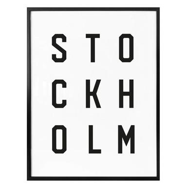 Poster - Typographie Stockholm