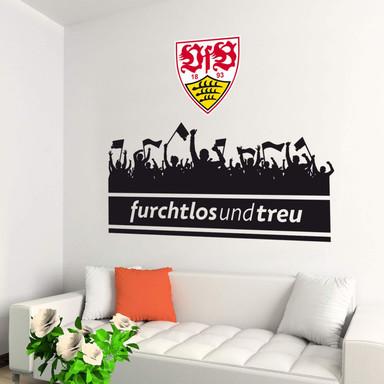 Wandtattoo VfB Stuttgart Fans mit Logo