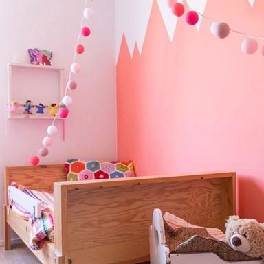 Cotton Ball Lights - LED Lichterkette - Pink 35-tlg. - Bild 1