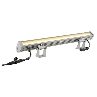 LED Fassadenstrahler Galen, IP55. 3000K, silbergrau