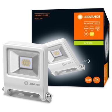 LED Flutlicht Endura in Weiss 10W 800lm IP65 3000K