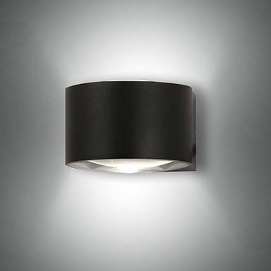 LED Wandleuchte Lao in Schwarz und Transparent 2x 6W 540lm