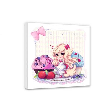 Leinwandbild La Doll Blanche - Chibi Belle