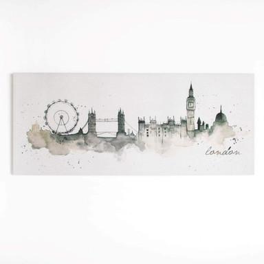 Leinwandbild LONDON WATERCOLOUR  - Bild 1