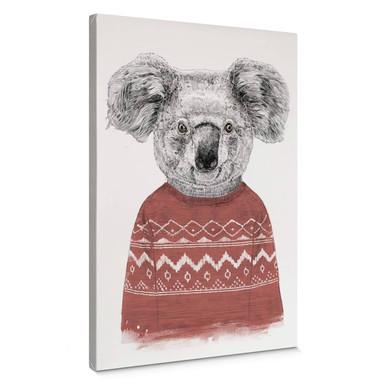 Leinwandbild Solti - Koala im Winter