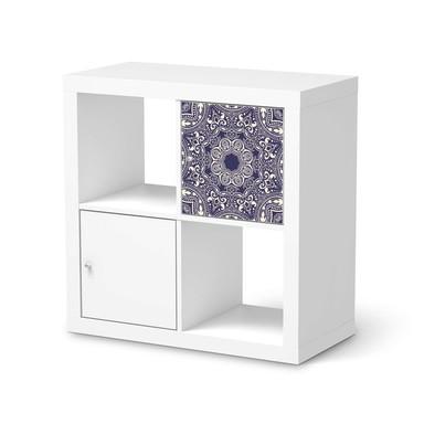 Möbelfolie IKEA Kallax Regal 1 Türe - Blue Mandala