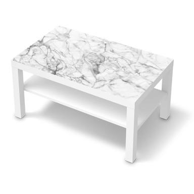 Möbelfolie IKEA Lack Tisch 90x55cm - Marmor weiss